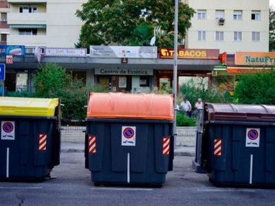 diferencias entre el cubo de basura marron, naranja y amarillo