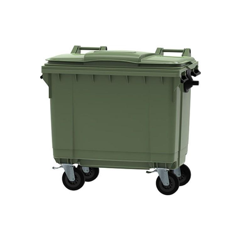 Contenedor de basura 4 ruedas 660 litros