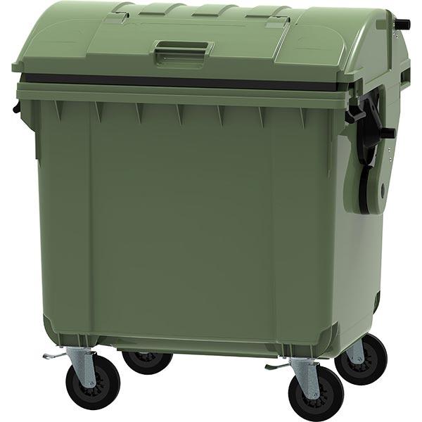 contenedor de carga trasera de 4 Ruedas (tapa curva)