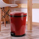 Ponpong-10-L-Cubo-de-Basura-con-Pedal-de-Reciclaje-para-Interiores-Color-Rojo-1-Paquete-0-4.jpg