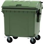contenedor de basura 4 ruedas 1100 l (tapa curva)